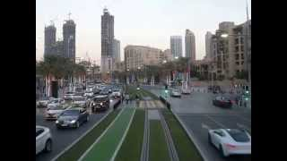 Downtown Dubai's Mohammed bin Rashid boulevard from the Dubai Trolley