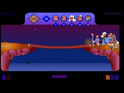 family cross bridge problem bridge and torch game