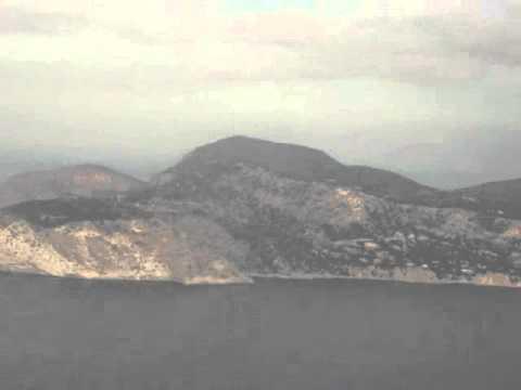Ibiza coast from air