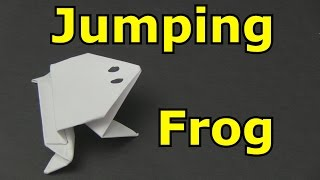 how to make a frog out of paper, which jumps