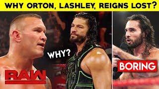 Why Orton, Roman, Lashley LOST? Boring Seth Rollins - WWE Raw 15 July 2019 Highlights Hindi Results
