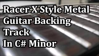 Heavy Metal Guitar Jam Track in C# Minor, Inspired by Racer X, try ...