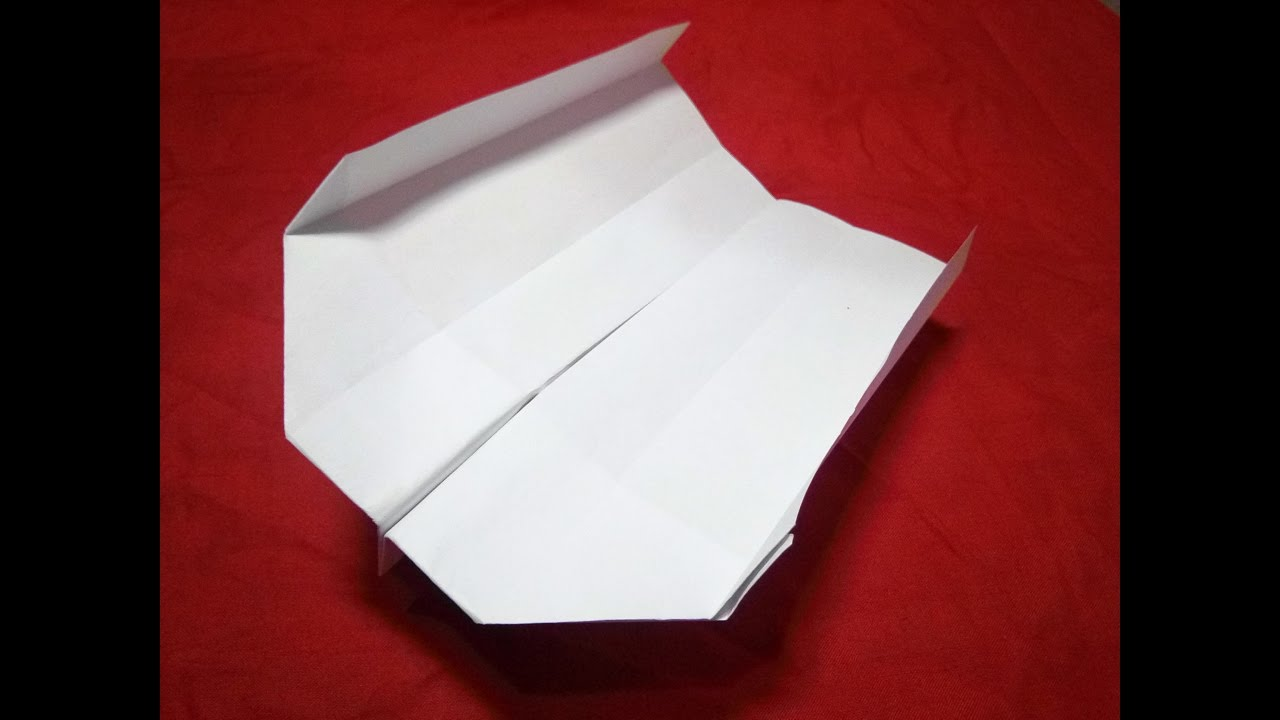How To Make The BOOMERANG PAPER AIRPLANE YouTube - Box paper airplane