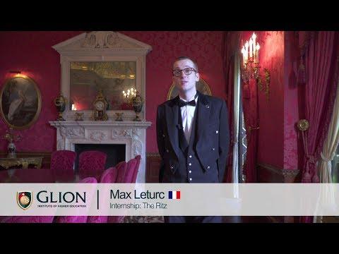 Glion internship student Maxime Leturc, France | The Ritz