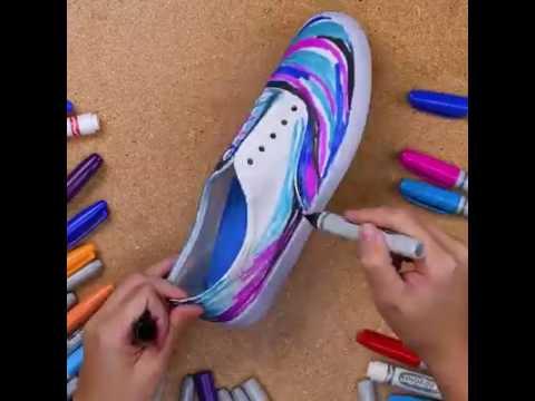 DIY Galaxy Shoes!