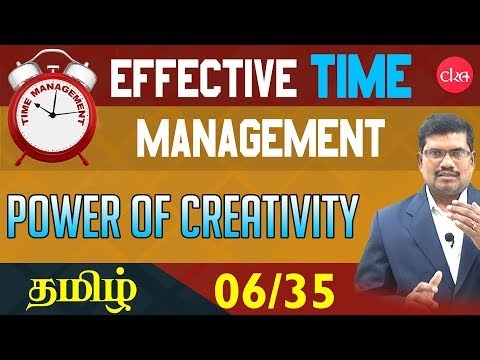 #6 Mind as Creativity Power    Effective Time Management In Tamil
