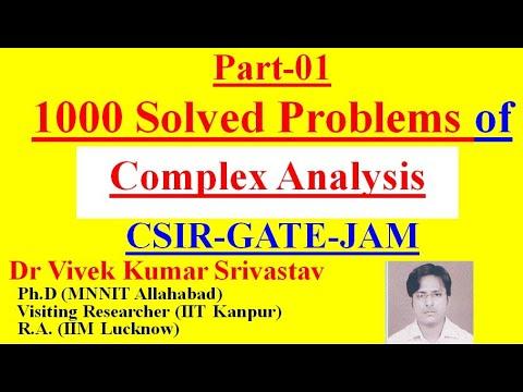 Part-1:(01-10) Ques/Study Material of Complex Analysis for  CSIR/NET/GATE/JAM/BSc /M Sc /Mathematics