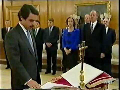 Jura de José María Aznar del cargo de presidente del