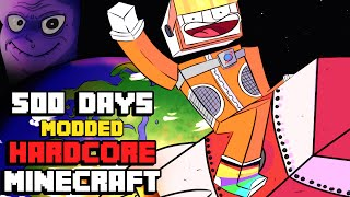 I Survived Hardcore Modded Minecraft For 500 Days using the largest modpack possible