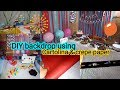 DIY PARTY BACKDROP AND DECORATIONS!! | OURFAMILYBUDGET | KRISTEEN