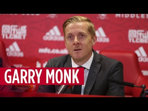 Garry Monk is unveiled as the new Boro boss at Rockliffe Park