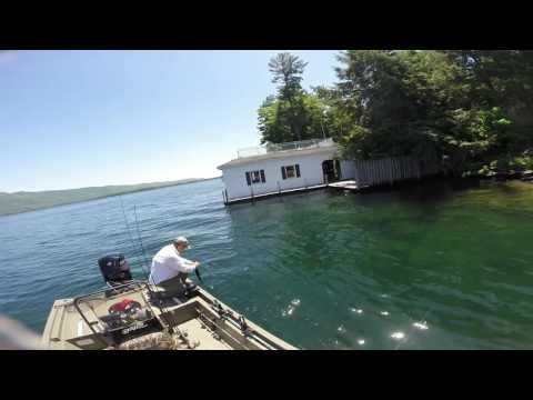 Bass Fishing on Lake George in New York.  May 31-June 2, 201