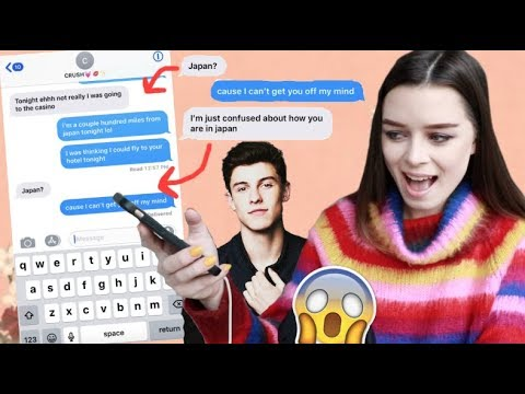 TEXTING MY CRUSH SHAWN MENDES