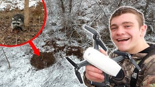 TRAPPING WITH A DRONE! *Raccoon Caught*