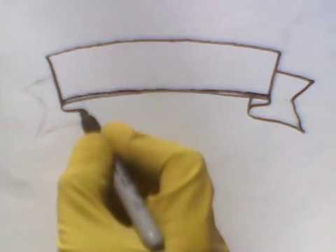how to draw a banner ribbon the best heart como dibujar una bandera fun 2 draw