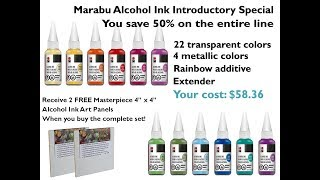 50% Off Introductory Sale On Marabu Alcohol Ink by Joggles.com