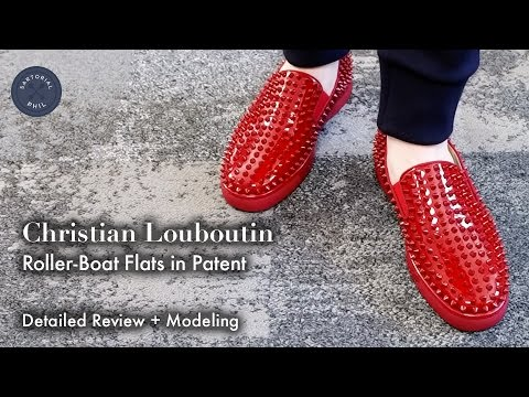 87bc3ef972c1b Christian Louboutin Roller-Boat/Rollerboat Flat in Patent - Detailed Review  + Modeling