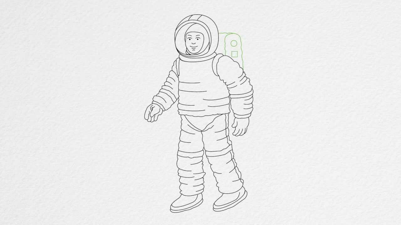 How to draw an ASTRONAUT step by step - YouTube