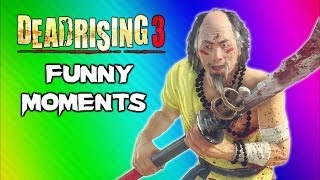 Repeat youtube video Dead Rising 3 Funny Moments Gameplay 7 - Robot Claw, Mini Chainsaw, Zhi Monk Weapon, Epic Dancing!