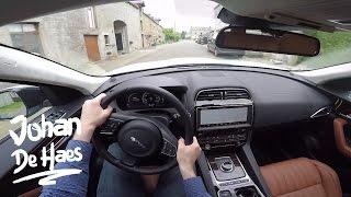 Jaguar F-PACE 3.0D R-Sport 300hp POV test drive GoPro