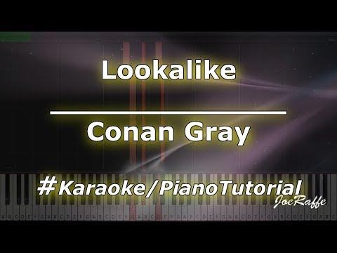 Conan Gray - Lookalike KaraokePianoTutorialInstrumental