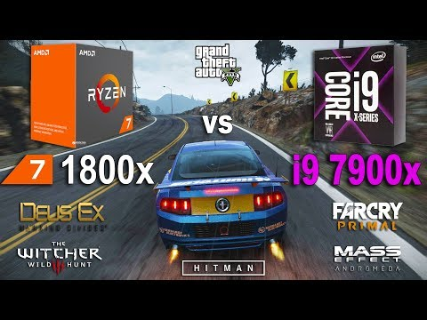 i9 7900x vs Ryzen 7 1800x Test in 7 Games (GTX 1070)