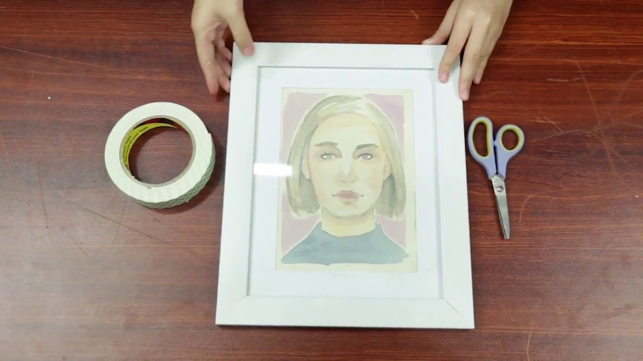 how to use double sided tapes to create picture frames - Double Sided Frames