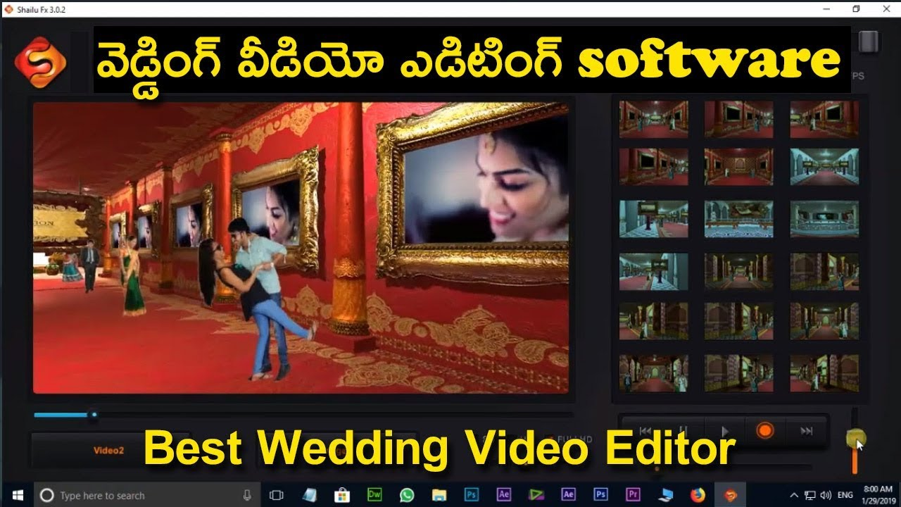 best marriage video editing software