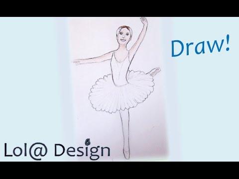 Tuto 13 dessiner une danseuse etoile youtube - Dessin d une danseuse ...