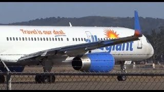 Allegiant Air Boeing 757-200 N901NV Takeoff / California Planespotting / Santa Maria Airport