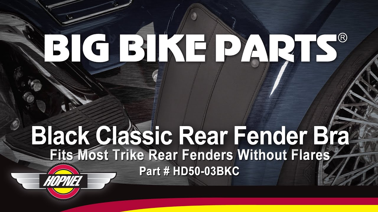 Hopnel Black Classic Rear Fender Bra For Trikes