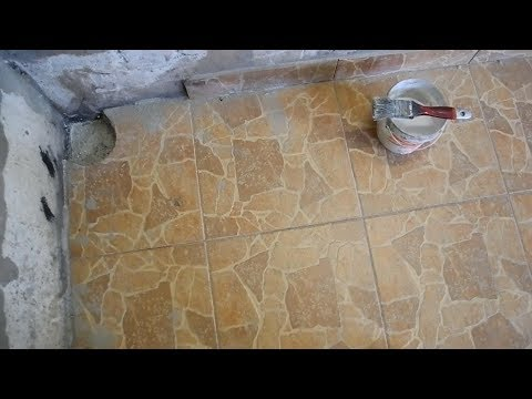 Как отремонтировать дыру в полу из плитки