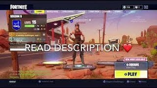 FREE FORTNITE ACCOUNT GIVEAWAY LIVE / READ DESCRIPTION / ( 1 LIKE + 1 SUBSCRIBER = FREE ACCOUNT