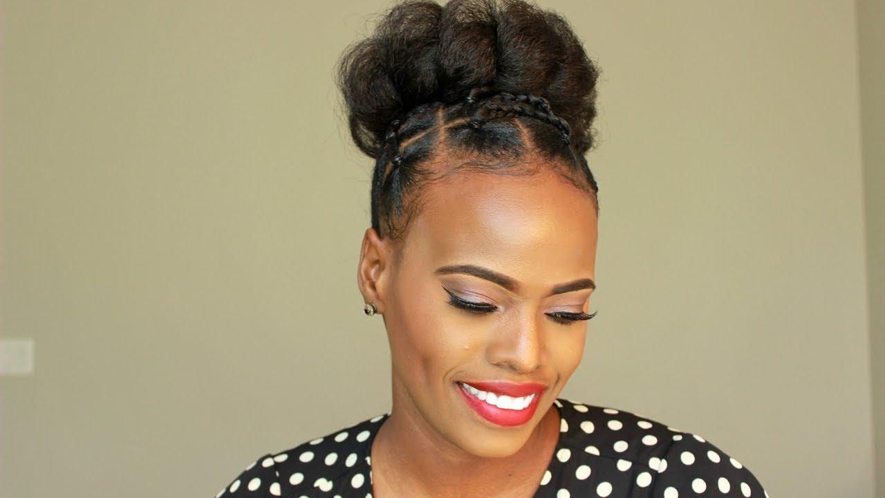 2019 Black Hairstyles: HOLIDAY NATURAL HAIR UPDO
