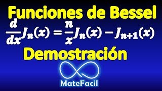 05. Derivative of Bessel Functions (first kind, integer order). DEMONSTRATION