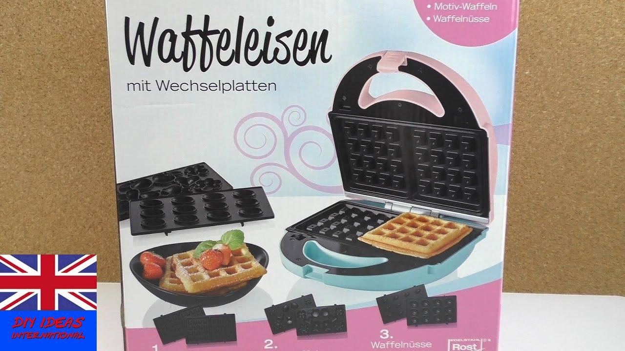 3 in 1 Waffle Maker SilverCrest con piastre ...