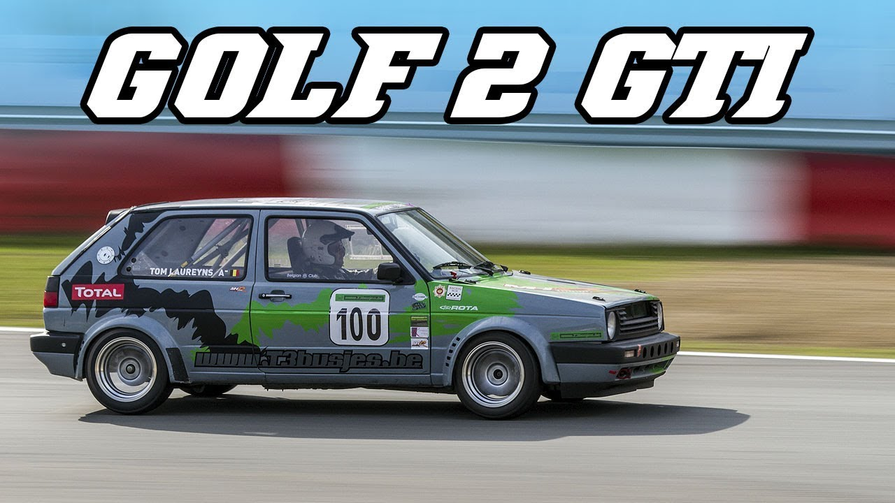 Marvelous VW Golf 2 GTI Very Fast Racecar   Fly Byu0027s And Backfire (Zolder 2017)