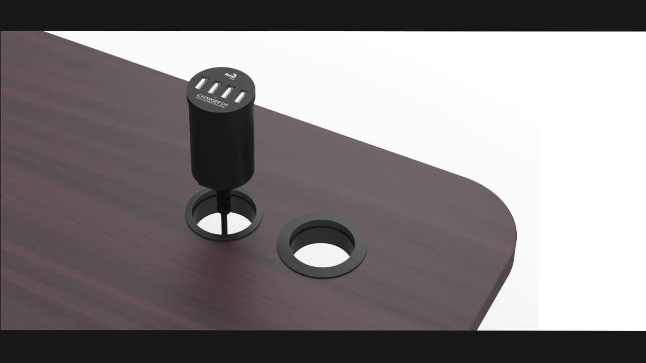 Aerocool Icharger D4 4 Port Usb Desk Charger Youtube