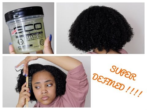 WASH AND GO ft Eco Styler Black Castor Oil and Flaxseed Gel