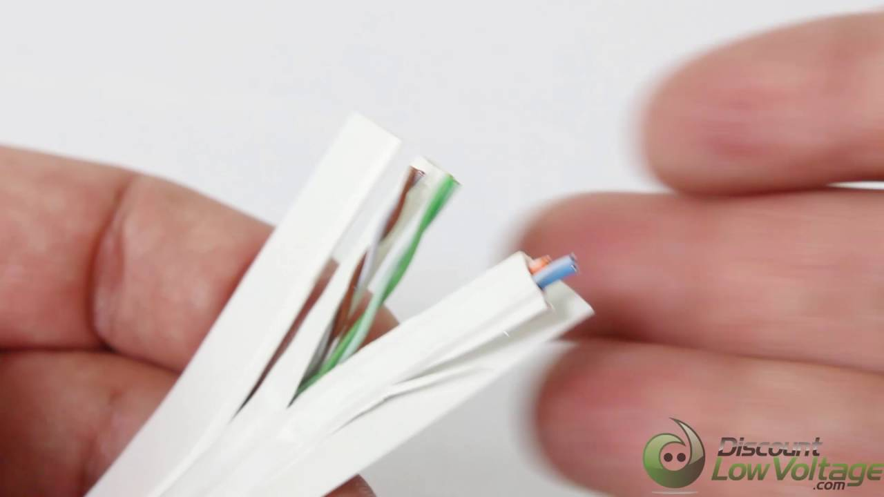 Flat Cat6 Under Carpet Cable - DiscountLowVoltage.com Undercarpet Wiring on