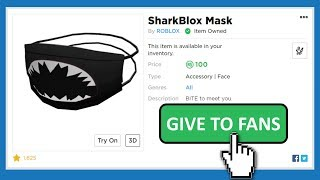 Did roblox make this mask for me!? Giveaway!! 🖤