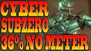 Mortal Kombat X TRIBORG Combos - CYBER SUBZERO COMBO TUTORIAL!
