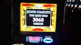 Da Vinci Diamonds Slot Bonus $3060.00 Jackpot Hand Pay!!!