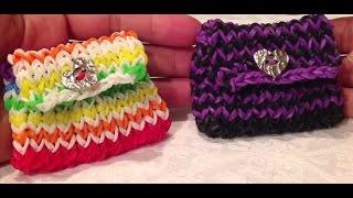 Кошелек из резиночек, Радужки Rainbow Loom