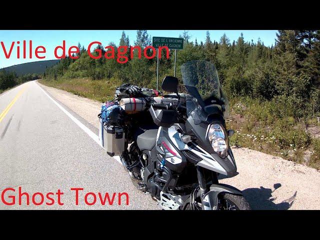 MOTORCYCLE Gagnon Ville (ville fantôme) QUÉBEC CANADA Août 2018 Nom officiel Ville de Gagnon