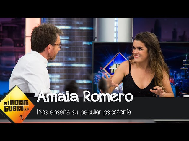 La peculiar psicofonía de Amaia Romero - El Hormiguero 3.0