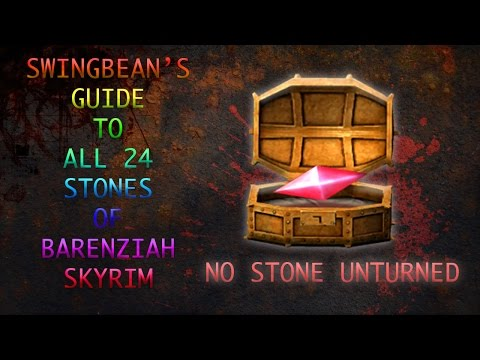 SKRIM ALL 24 *STONES OF BARENZIAH* NO STONE UNTURNED, UNUSUAL GEMS 2016
