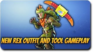 Nouveau Rex Outfit Skin Gameplay et Pick Squeak Tool! Fortnite Battle Royale Live Stream!