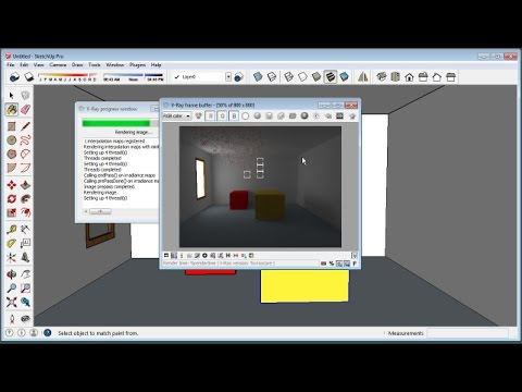 Sketchup Rectangular Light Vray Youtube
