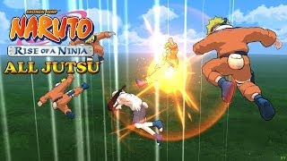 Naruto Rise of a Ninja All Jutsu [1080p HD]